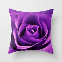 Purple Passion Rose Throw Pillow
