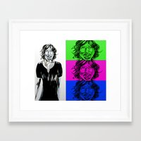fangirl Framed Art Prints featuring fangirl by Hivemind Candy
