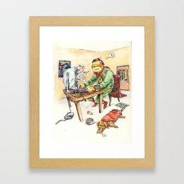 Hero and his Superdog Framed Art Print