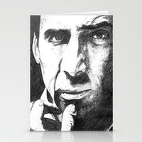 nicolas cage Stationery Cards featuring Nicolas Cage by DeMoose_Art