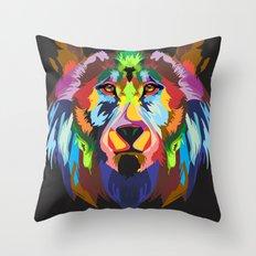 color bear Throw Pillow