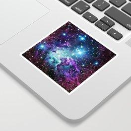 Fox Fur Nebula : Purple Teal Galaxy Sticker