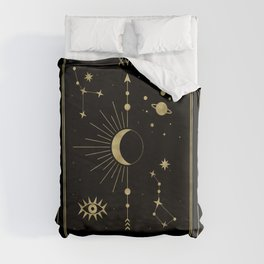The Moon or La Lune Gold Edition Duvet Cover