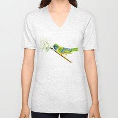 Feathers & Flecks (Canvas Background Edition) Unisex V-Neck