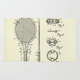 Tennis Racket-1948 Rug