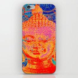 Rainbow coloured Buddha iPhone Skin