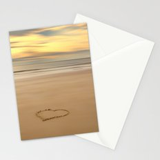 love on the beach Stationery Cards