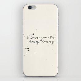 Honey Bunny iPhone Skin