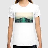 bridge T-shirts featuring suspension bridge by Sookie Endo