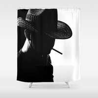 cowboy Shower Curtains featuring Cowboy by Faruk Taşdemir