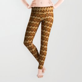 Basket Weave Pattern Leggings