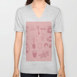 Teenage Bedroom Flash Sheet Unisex V-Neck