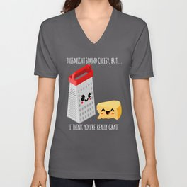 This Might Sound Cheesy I Think You're Grate Unisex V-Neck