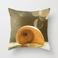 seashell Throw Pillows featuring Seashell... by Nature In Art...