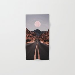 Road Red Moon Hand & Bath Towel