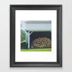 Wood Stack Framed Art Print