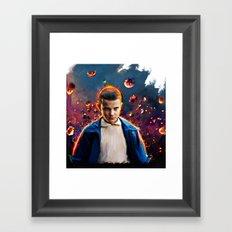 stranger things eleven  Framed Art Print