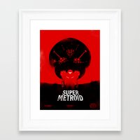metroid Framed Art Prints featuring Super Metroid by Ian Wilding