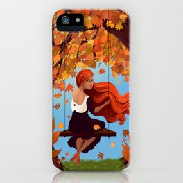 Meredith in Autumn in the Park iPhone Case