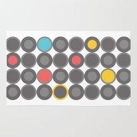 grey Area & Throw Rugs featuring Grey by nandita singh