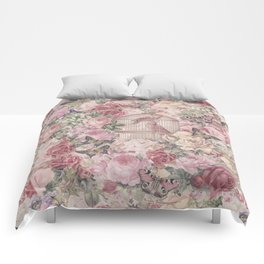 Romantic Flower Pattern And Birdcage Comforters