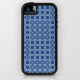 Geometric Tile Pattern Blue iPhone Case