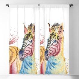 Colorful Zebra Blackout Curtain