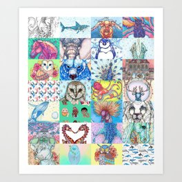 Kate Fitzpatrick Illustrations Collected Works Art Print