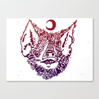 infamous Canvas Prints featuring INFAMOUS BAT HEAD by Mark Christopher