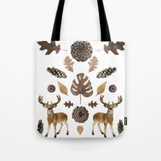 WOODS COLLAGE Tote Bag