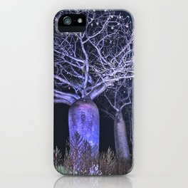 Boabs at night iPhone Case