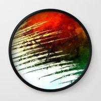 leaf Wall Clocks featuring Leaf by Alexandre Reis