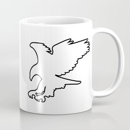 Majestic Eagle in Flight Silhouette Coffee Mug