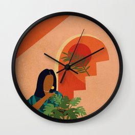 Stay Home No. 8 Wall Clock