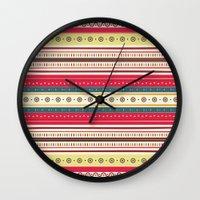 stripes Wall Clocks featuring stripes by ValoValo