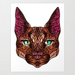 CARACAL WILD CAT Art Print