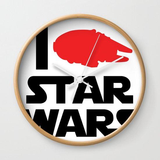 I Heart Star Wars Wall Clock