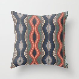 Colored waves Throw Pillow