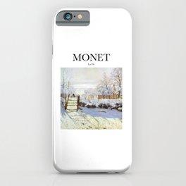 Monet - La Pie iPhone Case