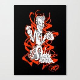 BURNER MONEY Canvas Print