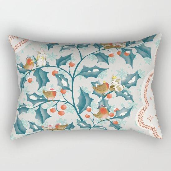 Sweet Holly Christmas Rectangular Pillow