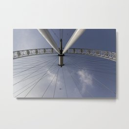 The London Eye And Apache Helicopter Metal Print