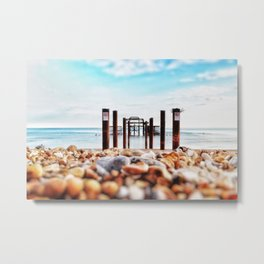 Between the Pillars to the Sea Metal Print