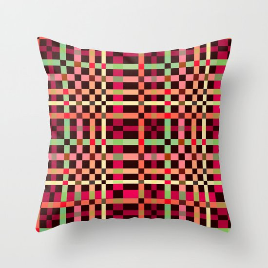 Little squares pattern! Throw Pillow