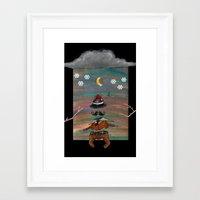 gentleman Framed Art Prints featuring gentleman by gunberk