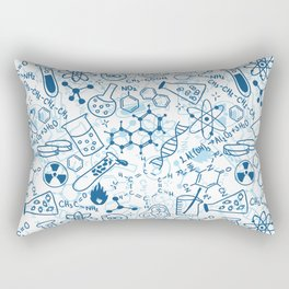 School chemical pattern #2 Rectangular Pillow