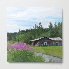 Pioneer Cabin - Alaska Metal Print