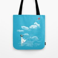 let it go Tote Bags featuring Let Go by I Love Doodle