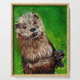 Playtime for Otter Serving Tray