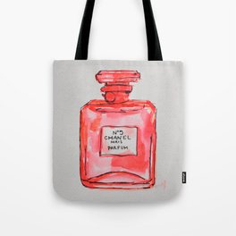 perfume red Tote Bag